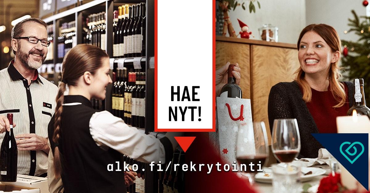 alko joulu 2018 Myyjiä Alkon joulusesonkiin (koko Suomi)   Alko   Työpaikat  alko joulu 2018
